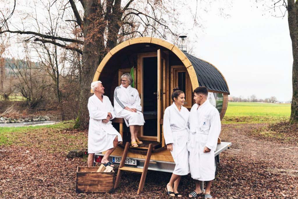 Mobile Mietsauna – Mobiles Saunafass